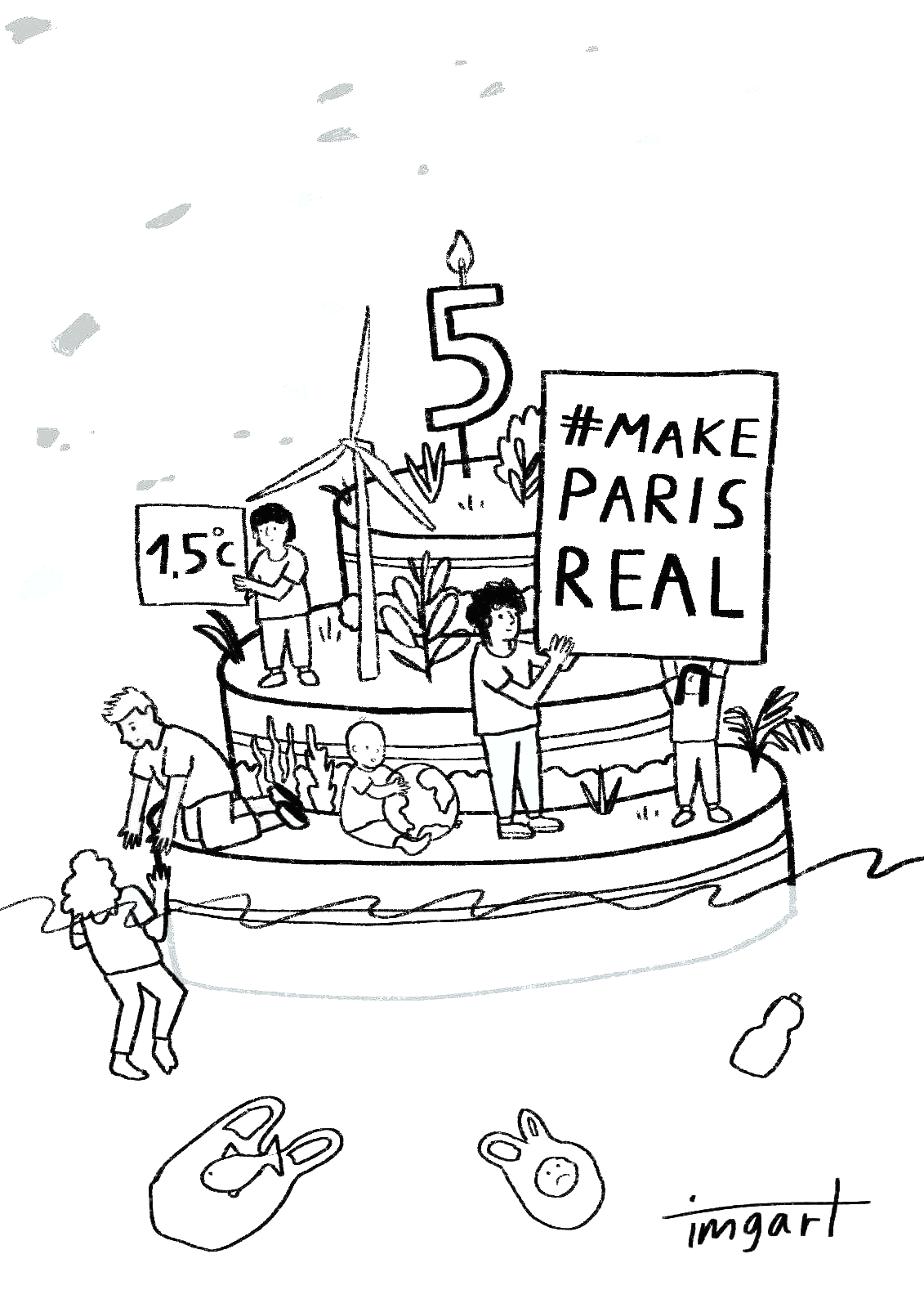 Make Paris Real - Colouring picture